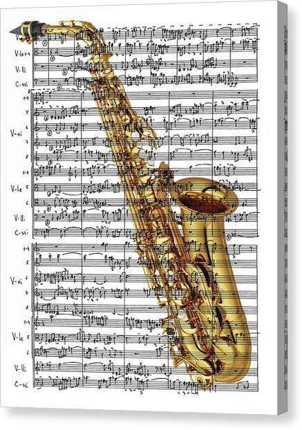 The Saxophone Canvas Print