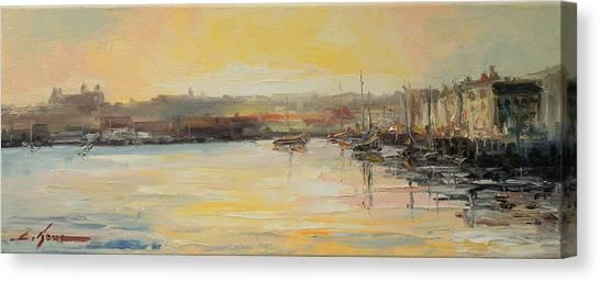 The Scarborough Harbour Canvas Print
