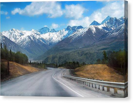 The Scenic Glenn Highway  Canvas Print