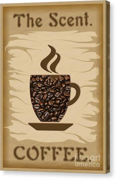 The Scent - Coffee Canvas Print