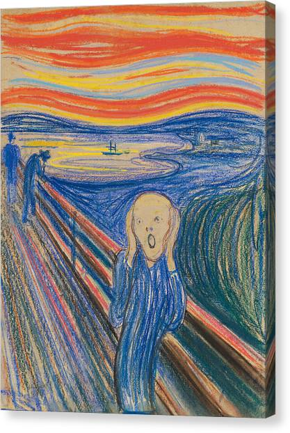 Krakatoa Canvas Print - The Scream by Edvard Munch