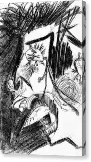 The Scream - Picasso Study Canvas Print