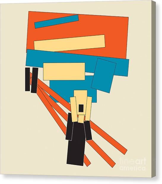 Suprematism Canvas Print - The Scream Simplified  by Igor Kislev