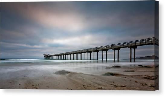 Scripps Pier Canvas Print - The Scripps Pier by Peter Tellone