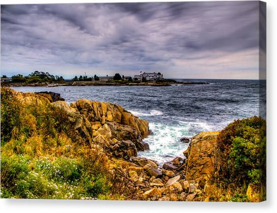 The Sea At Kennebunkport Canvas Print