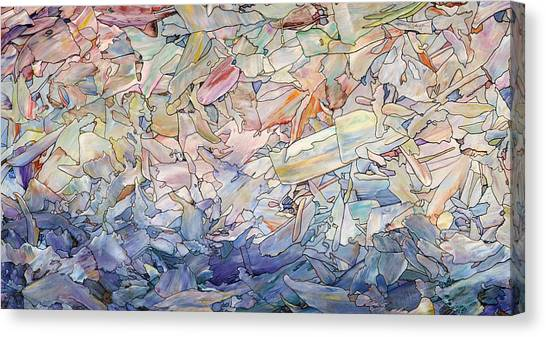 Fragmented Sea Canvas Print