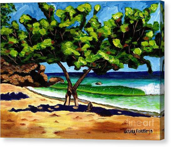 The Sea-grape Tree Canvas Print