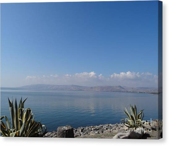 The Sea Of Galilee At Capernaum Canvas Print