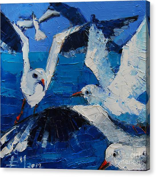The Seagulls Canvas Print
