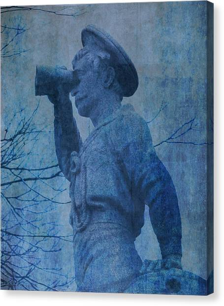 The Seaman In Blue Canvas Print