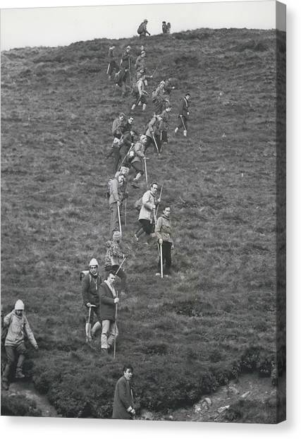 The Search For Bodies On The Moors Goes On Canvas Print by Retro Images Archive