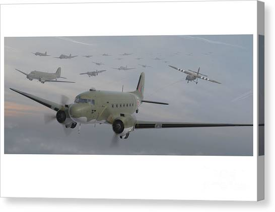 Paratroopers Canvas Print - The Second Lift by Hangar B Productions