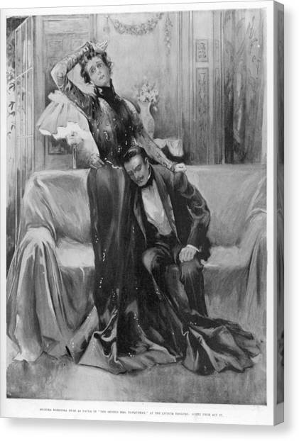 The Second Mrs Tanqueray, Eleonora Duse Canvas Print by  Illustrated London News Ltd/Mar