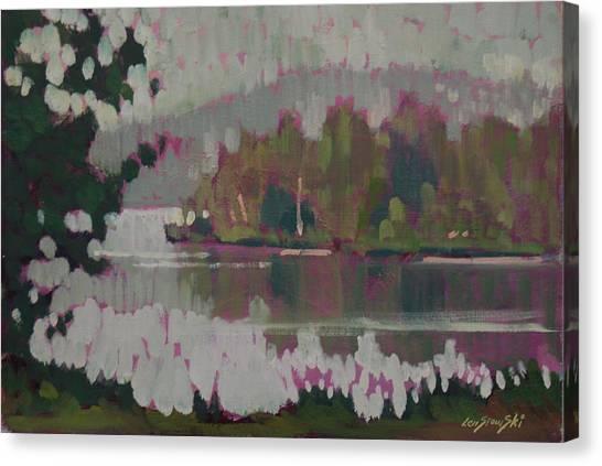 The Second Pond Canvas Print by Len Stomski