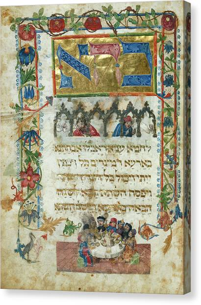 Passover Canvas Print - The Seder by British Library