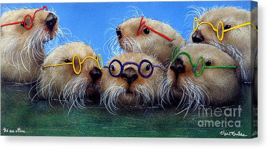 Otters Canvas Print - The See Otters... by Will Bullas