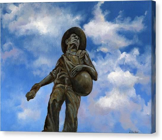 Oklahoma University Canvas Print - The Seed Sower by Linda Dunbar
