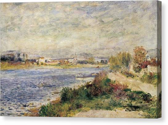 Pierre-auguste Renoir Canvas Print - The Seine In Argenteuil by Pierre-Auguste Renoir