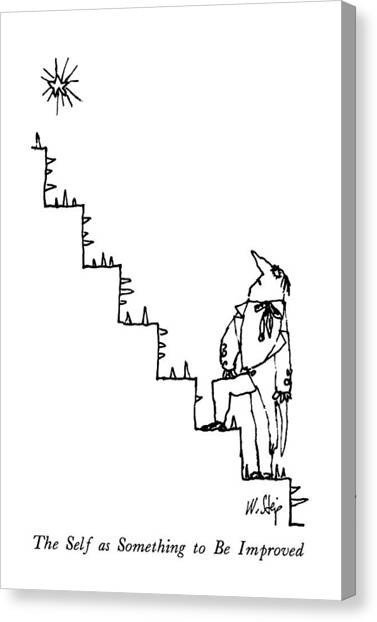 Improve Canvas Print - The Self As Something To Be Improved by William Steig