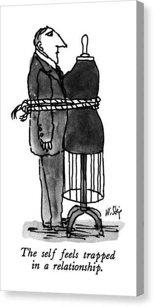 Rope Canvas Print - The Self Feels Trapped In A Relationship by William Steig