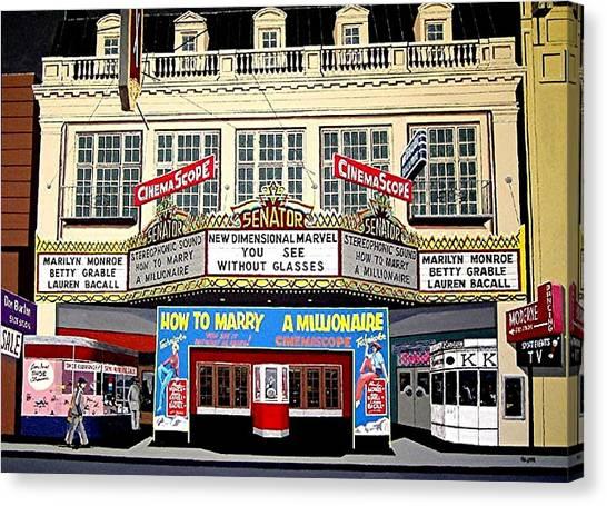 The Senator Theatre Canvas Print by Paul Guyer