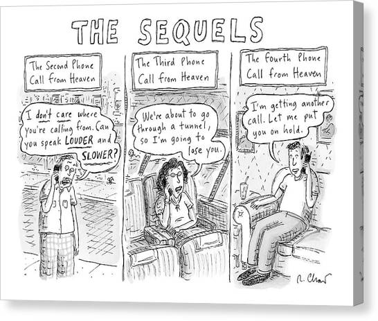 The Sequels 3 Panels Parodying A Book Called Canvas Print