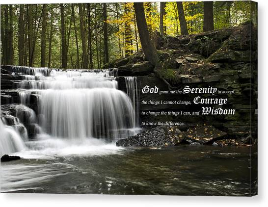 Courage Canvas Print - The Serenity Prayer by Christina Rollo