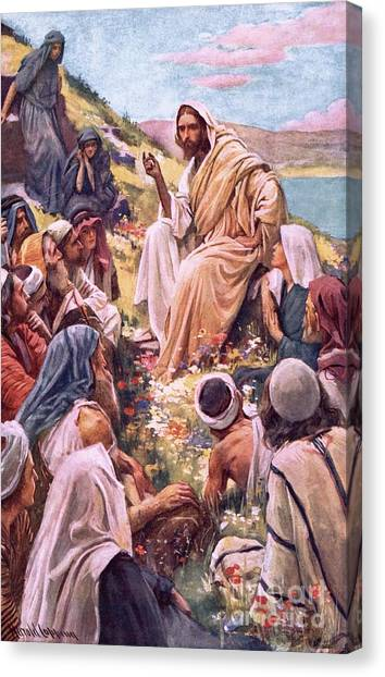 Messiah Canvas Print - The Sermon On The Mount by Harold Copping