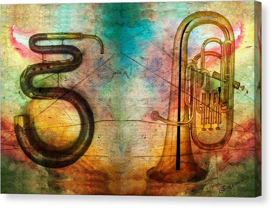The Serpent And Euphonium -  Featured In Spectacular Artworks Canvas Print