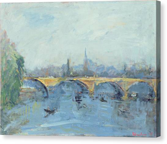 Hyde Park Canvas Print - The Serpentine Bridge, London, 1996 Oil On Canvas by Patricia Espir