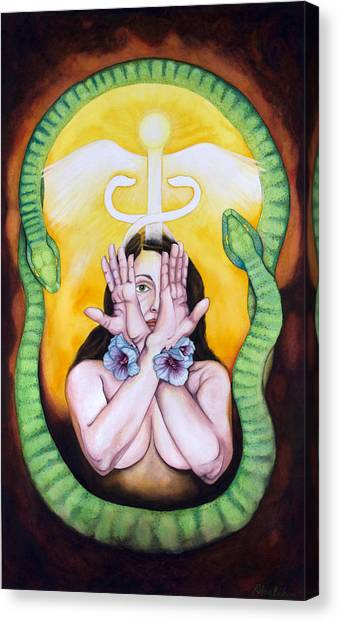 The Serpent's Gift Canvas Print by Rebecca Barham