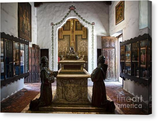 The Serra Cenotaph In Carmel Mission Canvas Print
