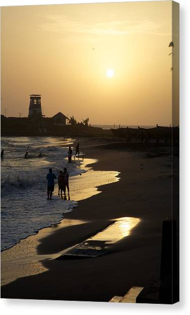 The Setting Canvas Print by Lee Stickels