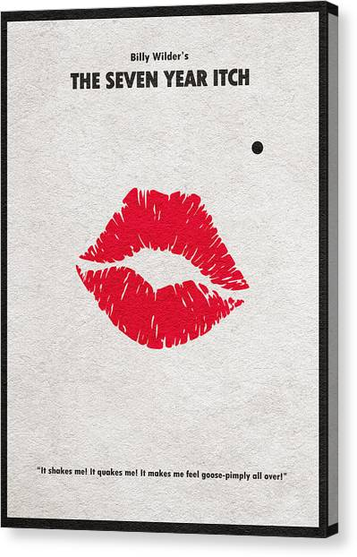 Marilyn Monroe Canvas Print - The Seven Year Itch by Inspirowl Design