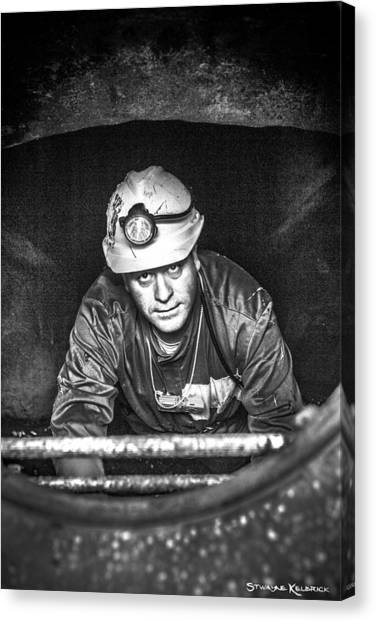 Canvas Print featuring the photograph The Sewer Guy by Stwayne Keubrick