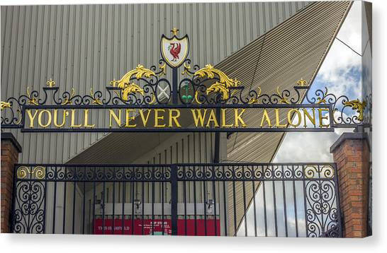 Liverpool Fc Canvas Print - The Shankly Gates - Liverpool Fc by Paul Madden