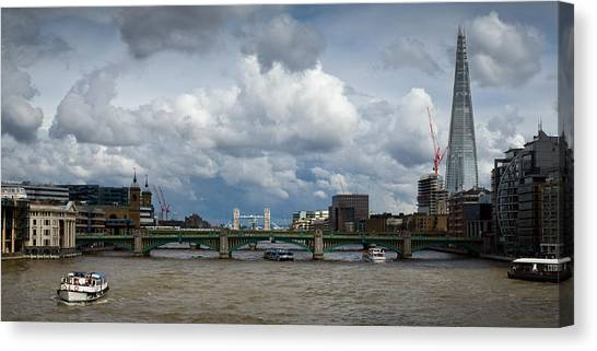 The Shard And Thames View Canvas Print