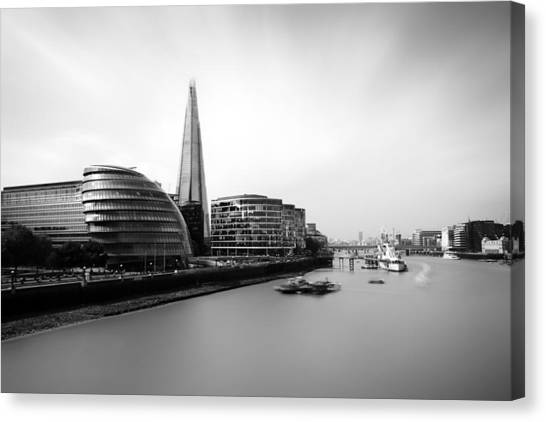 Belfast Canvas Print - The Shard View London by Ian Hufton