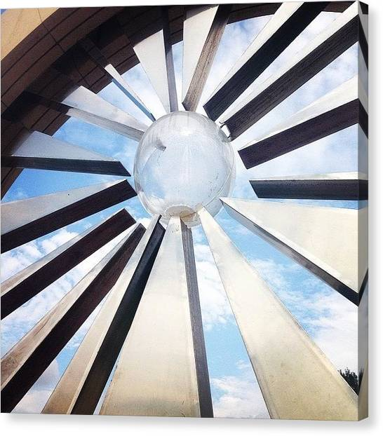 Iowa Canvas Print - The Shattering Silence Monument On The by Zach Steele