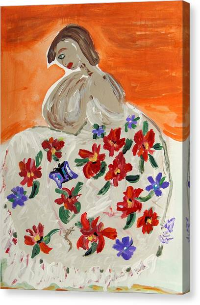 The Shawl Canvas Print