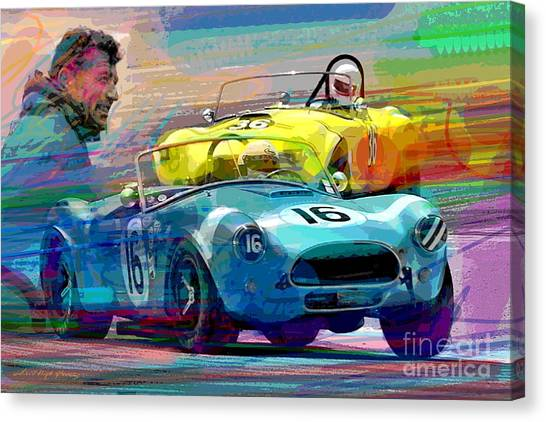 Cobras Canvas Print - The Shelby Legacy by David Lloyd Glover