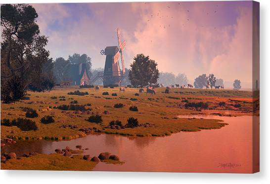 The Shepherd's Mill Canvas Print