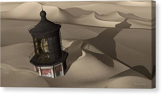 Buried Canvas Print - The Shifting Sands Of Time by Peter J Sucy