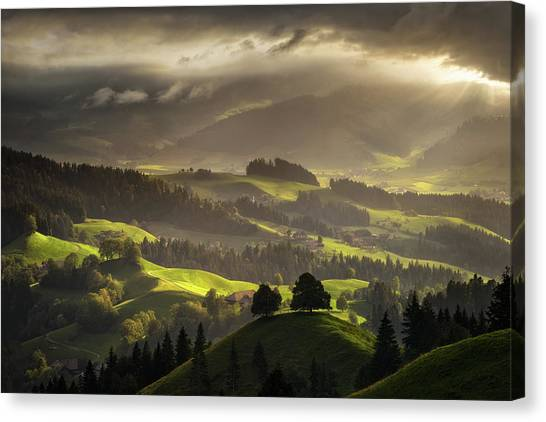 Switzerland Canvas Print - The Shire by Enrico Fossati