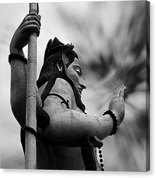 God Canvas Print - The Shiva. #lord #shiva #god by Dhruv K
