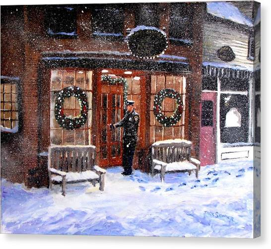 Canvas Print - The Shiver And Shake Watch On Christmas Eve by Jack Skinner