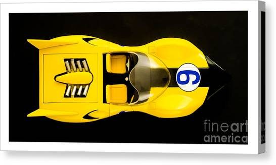 Shooting Stars Canvas Print - The Shooting Star Racer Xs Number 9 Race Car by Edward Fielding