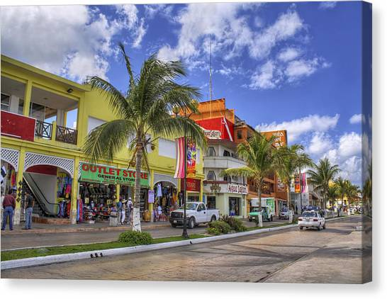 The Shops Of Cozumel Canvas Print