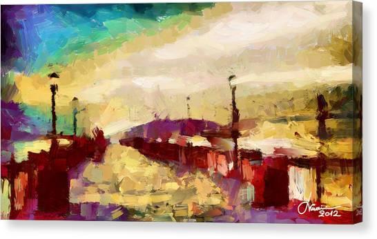 The Shore Tnm Canvas Print by Vincent DiNovici