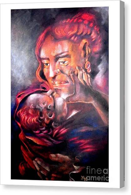 The Sick Child Canvas Print